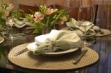Decoração de mesa para noite da massa +vinho